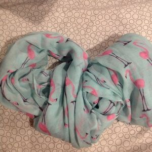 Accessories - Light-weight infinity scarf with flamingo print